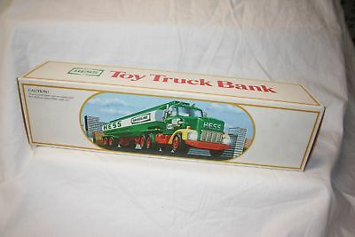 Vintage 1984 Rare Hess Fuel Oil Tanker Toy Truck Bank In Original Box W/ Insert