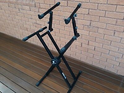 Quiklok Keyboard Extra Heavy Duty Stand, Double-Braced, 2-tiered QL742