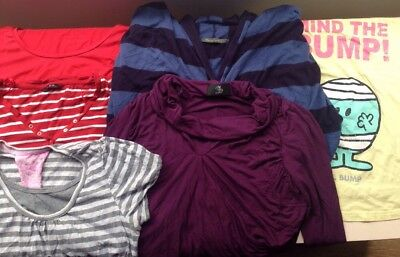 Maternity Bundle 5 Tops 1 cardigan Blooming Marvellous Mothercare E-vie 10 12 XL