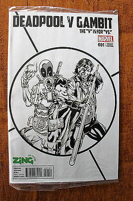 Deadpool Vs Gambit #1 - Zing Australia Exclusive Variant - Marvel Comics - Rare!