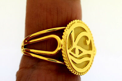 CUSTOMIZE Your Own Eye of Horus Fascinating 18 Karat Gold ethinic Egyptian Ring