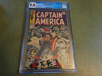 High Grade Captain America #107 Cgc 9.0 *first Doctor Faustus Jack Kirby