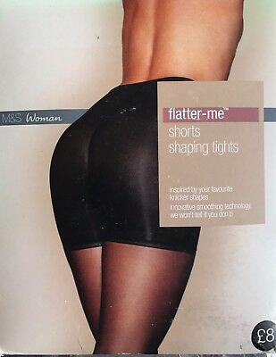 BNIP M&S FLATTER ME SHORTS SHAPING TIGHTS 20 denier S - XL various colours