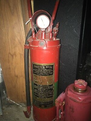 PHISTER No 1/2 ANTIQUE BRASS/IRON - 1/2 Gallon Fire Extinguisher