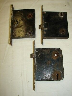 3 OLD MORTISE LOCKS - 1 YALE 2 Others - As Found