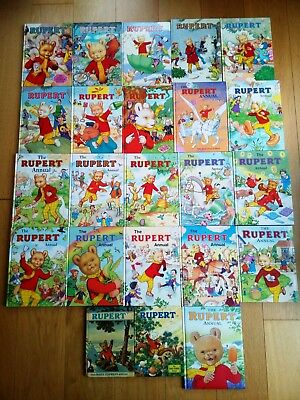 23 x Rupert Annuals Collectible Vintage, ALL PHOTOS & LISTED