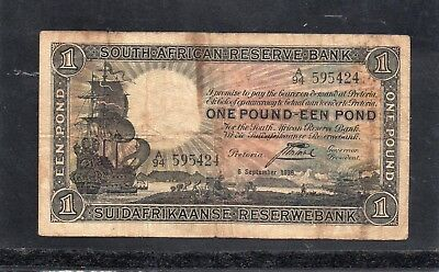 South African Reserve Bank One Pound in 1938