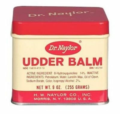 Dr. Naylors Udder Balm 9 oz Antiseptic Ointment Soreness Chapping Cattle Cows
