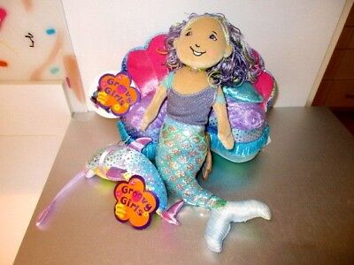 Groovy Girls  Special Edition Mermaid Lot New Tags Maya Dolphin Lounger #B