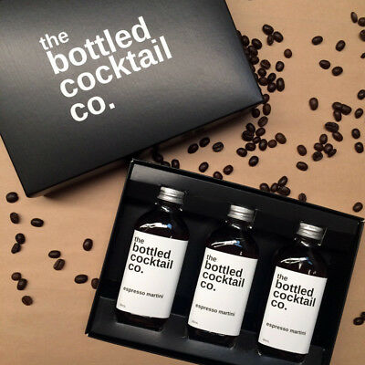 NEW Bottled Cocktail Co. Espresso Martini 3-pack by Cocktail Kit