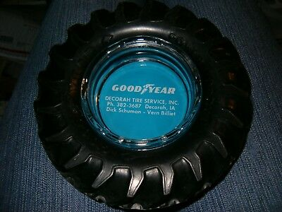 Good Year Power Torque Tire Advertising Ashtray GOODYEAR Tractor Decorah, Iowa