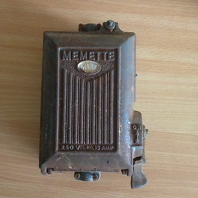 Vintage Memette Cast Iron Fuse Box