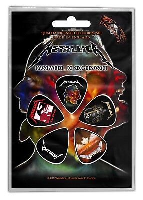 Official Licensed - Metallica - Hardwired 5 Guitar Plectrum / Picks Pack