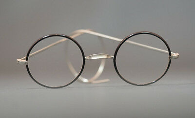 1900 Antique German Doctor's Eyeglasses Spectacles Black Lacquer Frames Mint