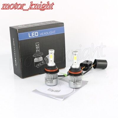 S2 Headlight Car Hi/Lo Beam Auto Bulbs 6000K White 9004/HB1 Cree led72W 8000LM