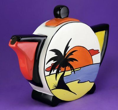 Lorna Bailey KEYWEST ROUND TEAPOT, JULY 2001, SEEN ON P29 OF NEW MILLENNIUM BOOK