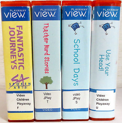 Lot of 4 Playaway Views: Fantastic Journeys/Thacher Hurd/School Days/Your Head