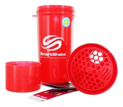 Smartshake Bottle - Slim - Neon Red - 17 oz - 1 Count