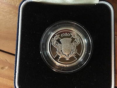 1986 United Kingdom 13th Commnwealth Games Commemorative 2 pound proof coin