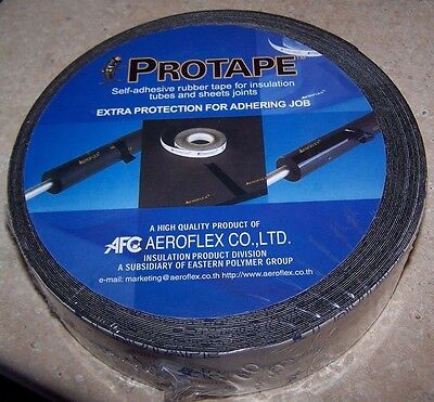 Aeroflex Protape Rubber tape for Insulation Tubes Sheets Aerocel 50mm x 25m