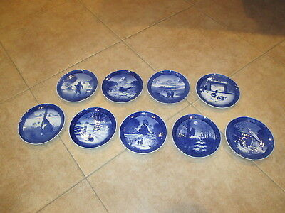 Vintage Royal Copenhagen Annual Christmas Plates Years-1965- 1976 Mint Condition
