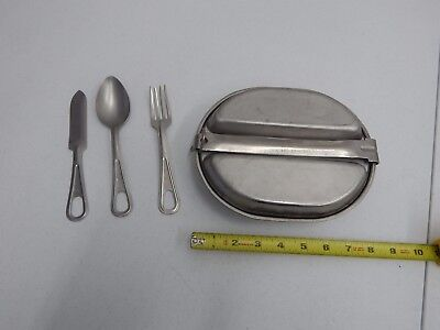 US Army / USMC Military Mess Kit with knife, fork, and spoon