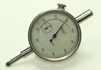 "MERCER Dial Gauge .0001"" Face Dia. 48mm Made in England needs a new face glass"