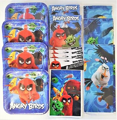 Angry Birds Movie Party Tableware Pack for 30 People - Plates Cups Napkins etc