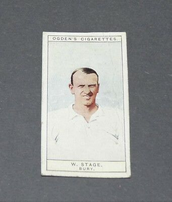 Cigarettes Card Ogden's 1926 Football Captains Colours 10 W. Stage Bury Shakers