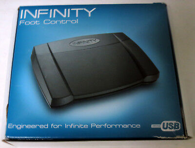Infinity IN-USB-2 Digital Dictation Transcription Foot Pedal Control Switch V.14