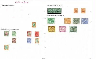 St Kitts - Nevis - Collection Of Fine Mint/used Stamps (7 Scans) Cat Gbp 1000+