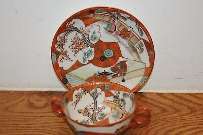Fabulous  Antique Chinese Cup & Saucer Porcelain  Mandarin Hand Painted China...