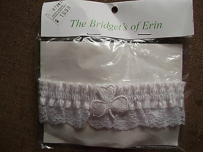 Womens Clothing- Bridal Accessory / Wedding Garter - Solid White, New In Package