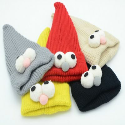 Winter Elastic Big Eye Knitted Wool Baby Hat Beanie Cap