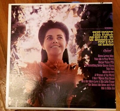 BILLIE JO SPEARS The Voice of LP ORIGINAL 1968 CAPITOL STEREO NM/NM RARE ST114