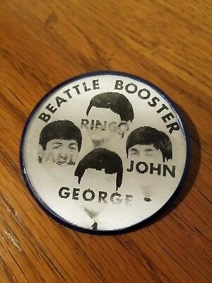 1960's The Beatles  BEATTLE BOOSTER - FLICKER Button Pin Badge - VARI-VUE USA