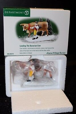 Dept. 56 Alpine Village Leading The Bavarian Cow #56214 - NIB