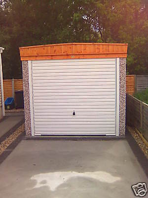 "22Ft 3"" X 8Ft 6"" Pent Concrete Sectional Garage Garages,free Upvc In November"