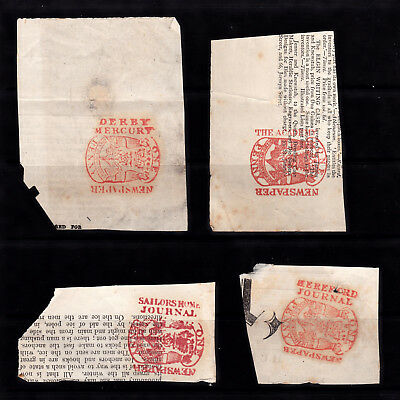 G.b. Early Newspaper Wrapper Stamps Identified