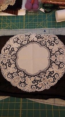 Antique Italian Gorgeous Round Doiley Lace with Angels. Very Unique. Must See!!