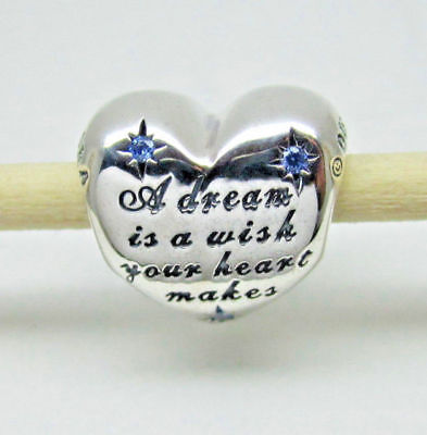 Genuine Pandora Disney Cinderella Dream Heart Charm ALE 791593CFL
