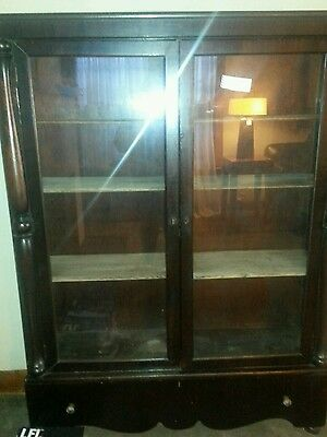 Antique Solid Wood Bookcase/China Cabinet