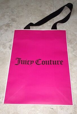 Juicy Couture Pink and Gold Logo Shopping Bag