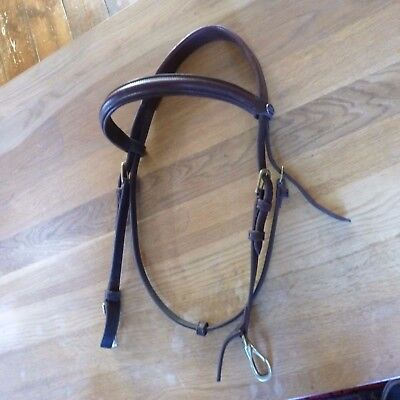 John Whitaker Brown Cob Size Bridle With Clips