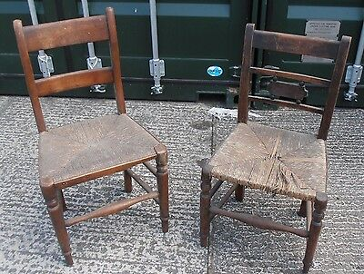 2 Early Rush Reed Chairs