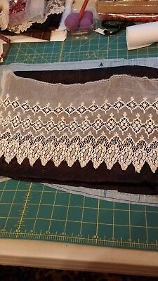 "Antique Lace Piece, Great for doll clothes. 17"" x 9""."