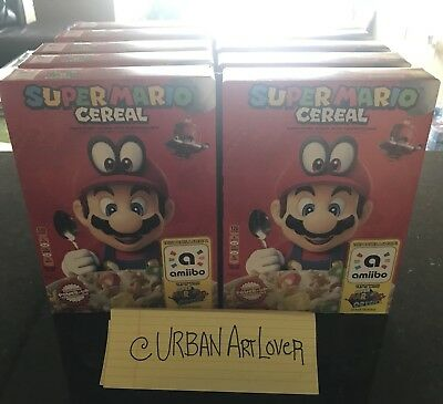 Super Mario Cereal Odyssey For Nintendo Switch  Limited Edition Amiibo - In Hand