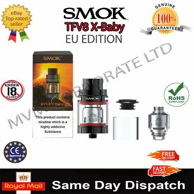 Smok TFV8 X- BABY Beast 2ml Tank | X4 Q2 M2 Coils | TPD UK SELLER | All Colours