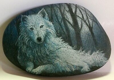 Wolf Moon Art Rock Original by Patty wolford Artrox