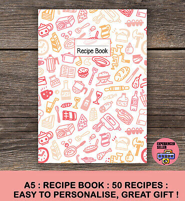 A5 Planner Recipe Notebook Journal Saddle Recipe Organiser 2019 [50] Gift New